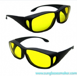 Laser Safety Eyewear for 190-490nm O. D 4+ Ce Certified with Black Frame for UV and Violet Lasers